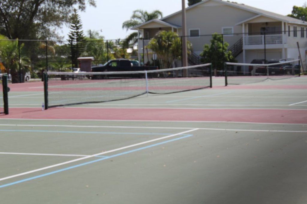 Community Tennis Just Down The Road.