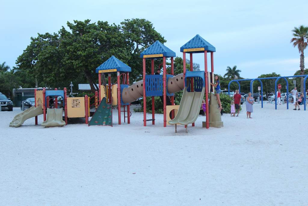 Large Playgrounds Right on the Beach!