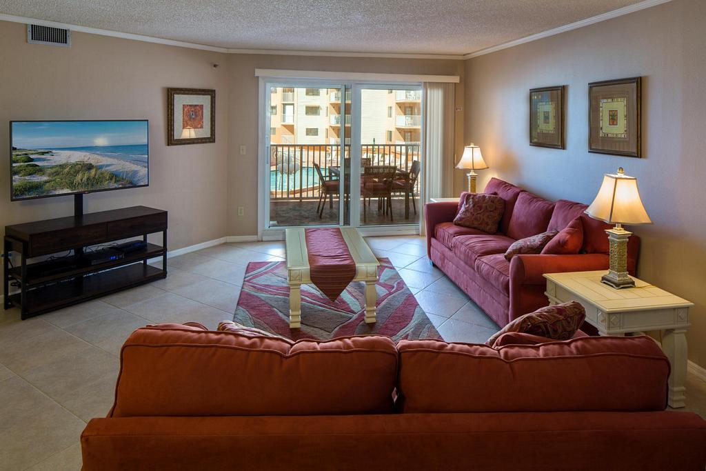 Comfortable Seating and Large Flat Screen TV