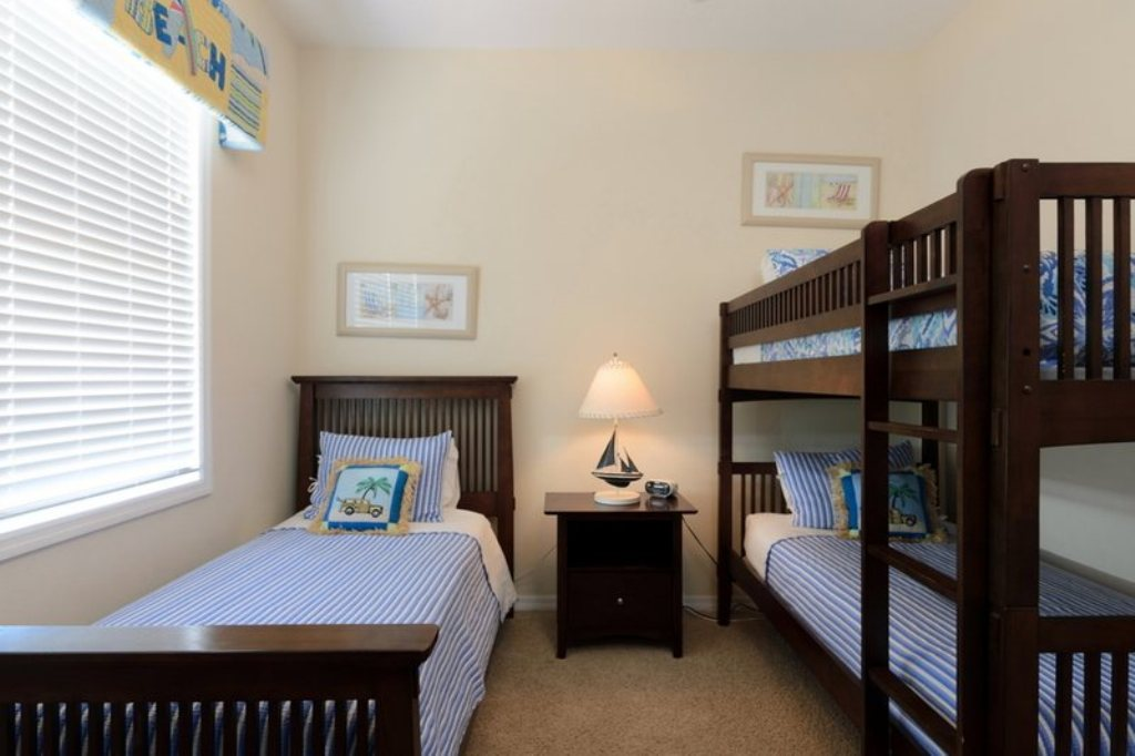 Guest Bedroom with Twin and Bunk
