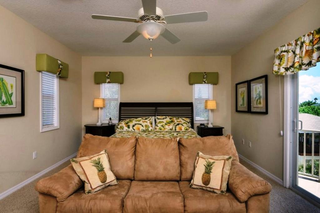 Master Suite with Seating Area and Flat Screen TV