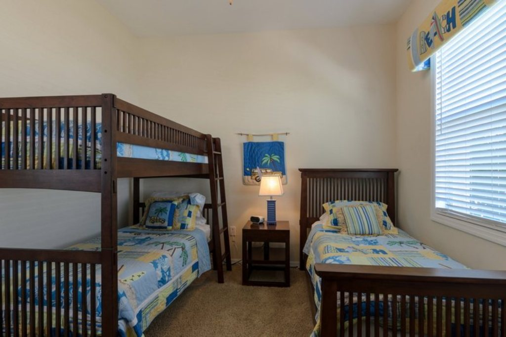 Guest Bedroom with Bunk and Twin Beds