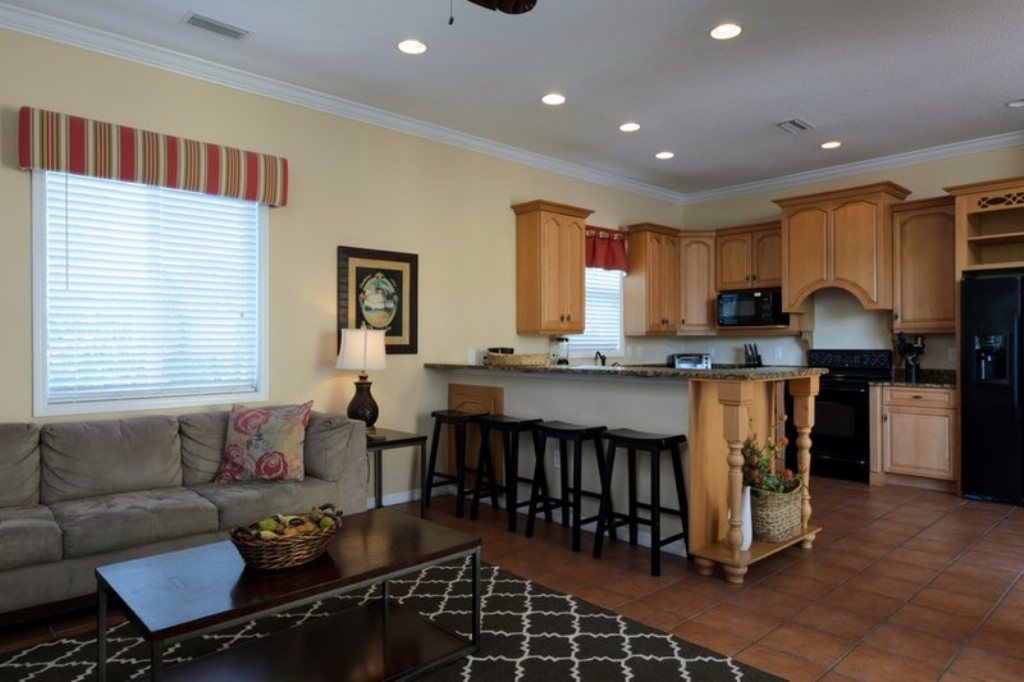 Open Living Space is Perfect for Large Groups to Enjoy