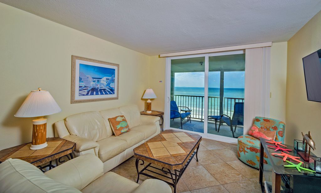 Living Room with Beach View