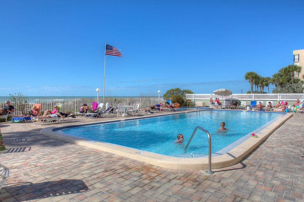 Swim and Lounge at the Community Pool Right On the Gulf