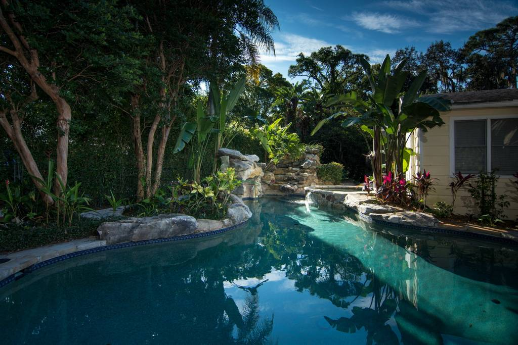 Soak Your Cares Away in this Tropical Oasis