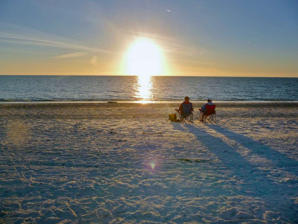 Relax and Watch the Sunset on the Gulf Beach