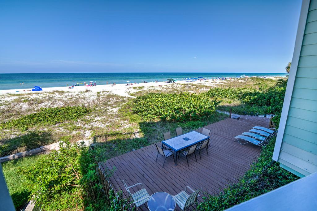 Beachfront Patio and Grilling Area Below