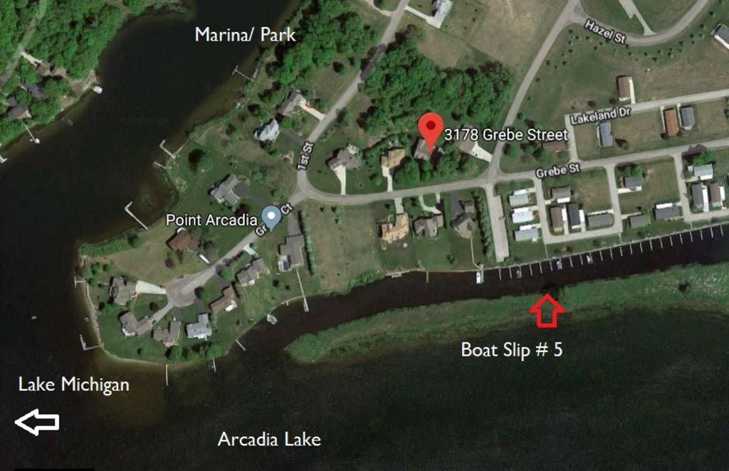 Aerial View to Boat Slip and Lake