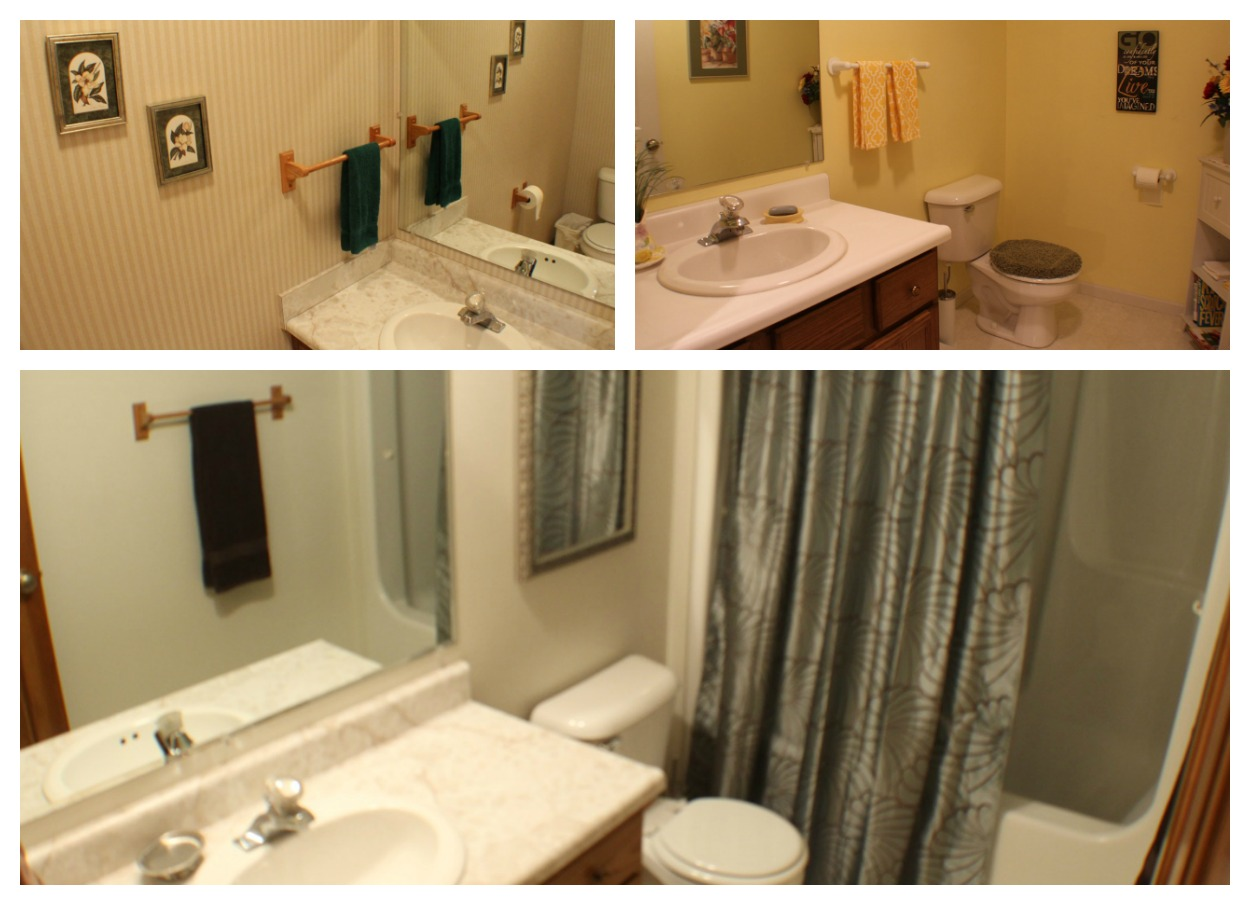 Guest Bathroom with Walk-In Shower and 2 Half Baths