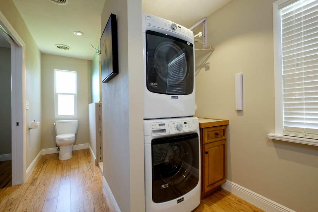 Updated Laundry Area with High-Efficiency Appliances