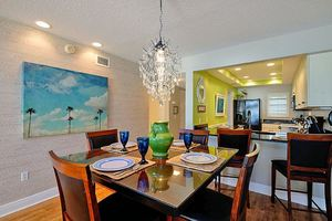 Dining Area with Seating for 4 Plus Bar Seating for 2.