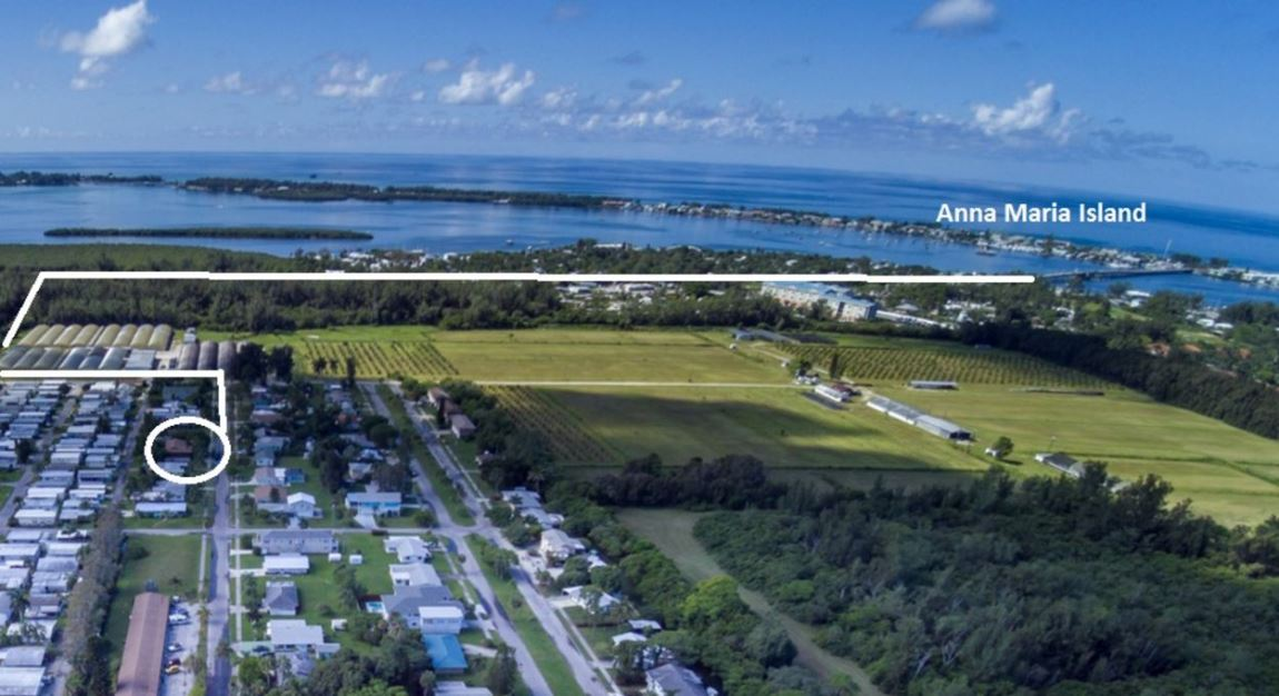 Aerial View of Route to Anna Maria Island.