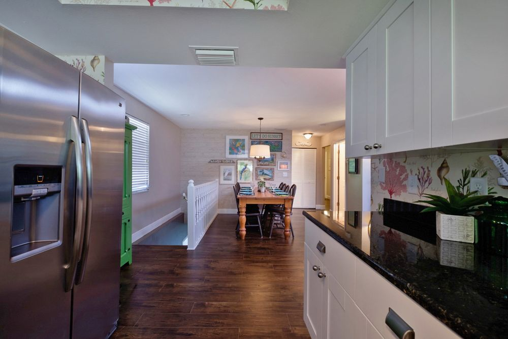 Granite Countertops and Stainless Appliances.