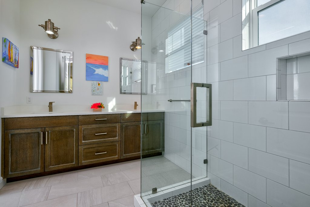 Ensuite Bathroom with Walk-In Shower & Double Sinks