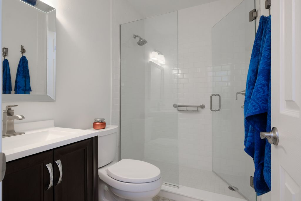 Master has Ensuite Bath with Walk-In Shower