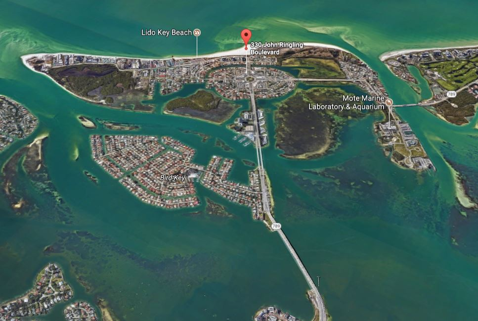Head South to St.  Armonds Circle on the Road to Siesta Key