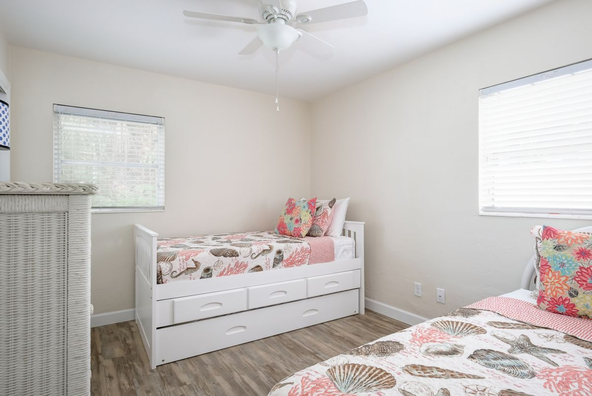 Second bedroom with twins and trundle