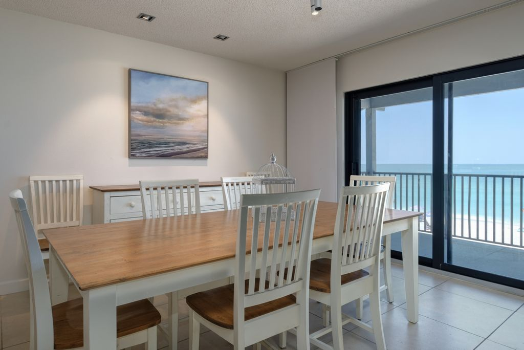 Kitchen Opens into Spacious Dining Area
