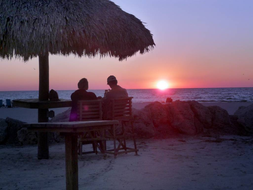 Enjoy the Sunset Across the Street or at a Gulf Dr. Cafe