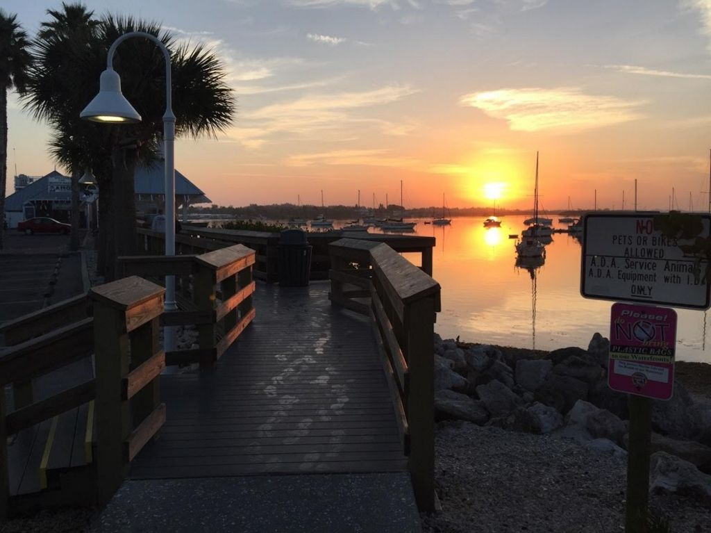 Stop at the Pier for Coffee/Breakfast and Sunrise