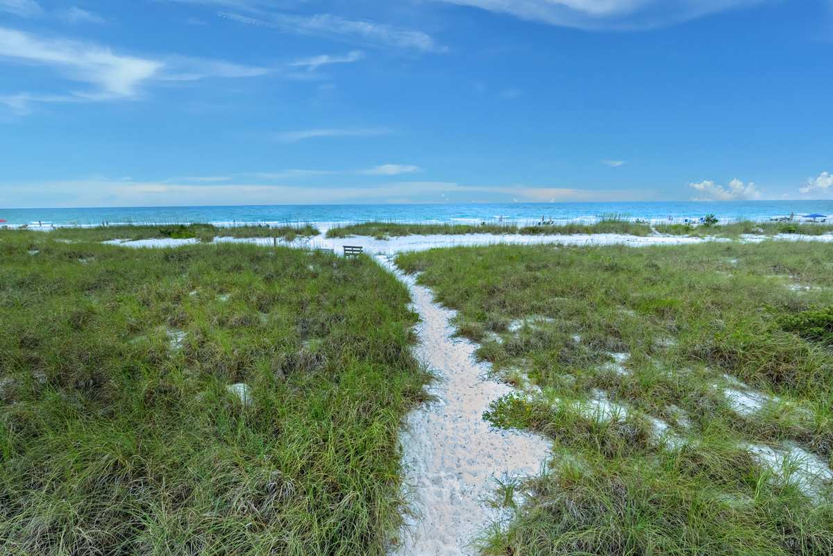 Beach Path from Street to Water
