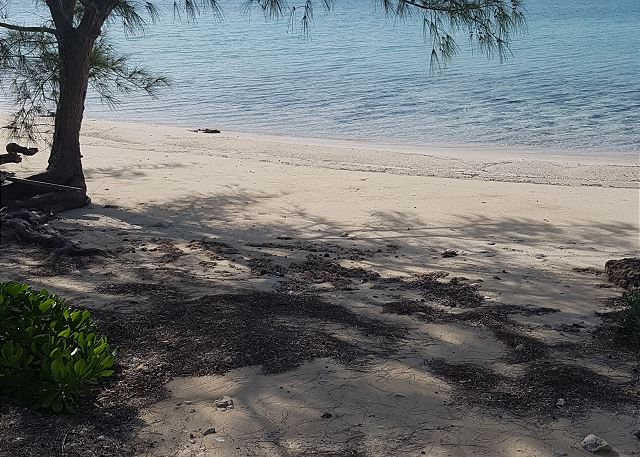 Our private beach, always deserted and calm as a lake.