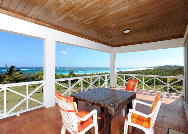 Lounge or dine on our deck and take in magnificent panoramic views of the ocean.