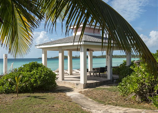 Oceanfront Gazebo with chairs