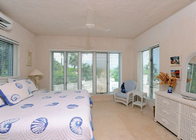 Bedroom with ocean views at Goodwind