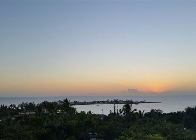 Sunset view from Belmont House