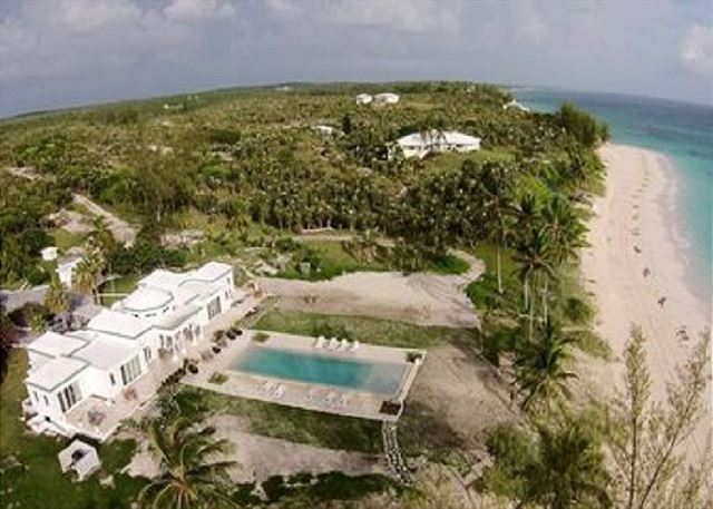 La Bougainvillea with new pool. Seven Palms is in the distance, rent both estate