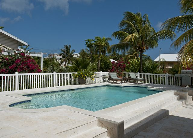 Our pool and spacious deck