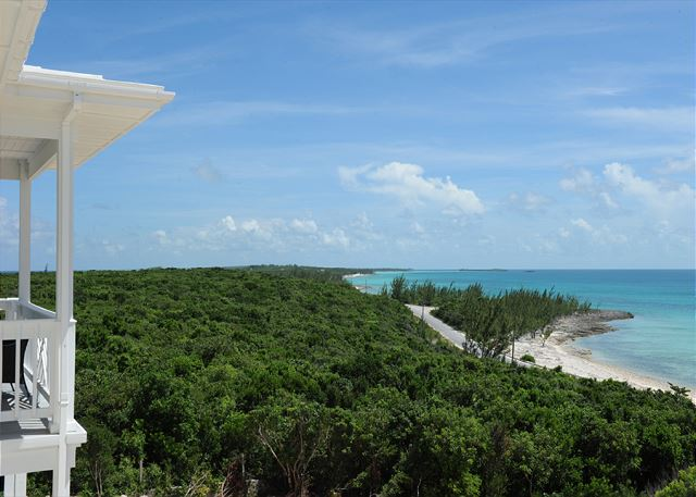 From the deck facing south. Deck has panoramic views of both oceans.