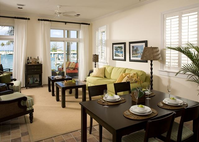 Waterfront Living Room with Queen Sleeper Sofa