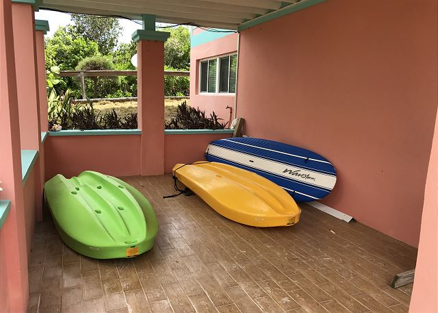 Our kayaks and paddleboard