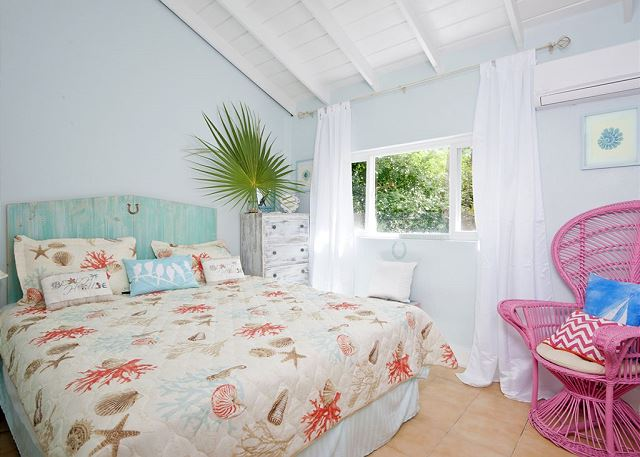 """3rd bedroom - """"Horseshoe"""" themed with garden view"""