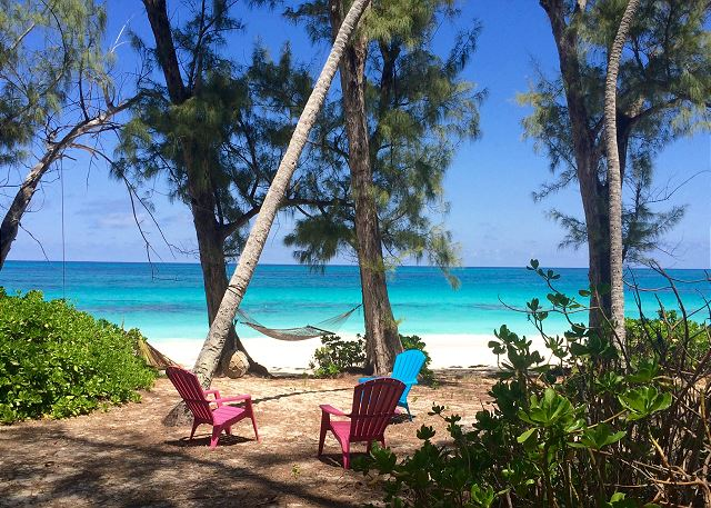 Poponi Beach with hammock and seating
