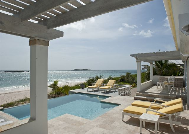 New beachfront infinity pool and deck!