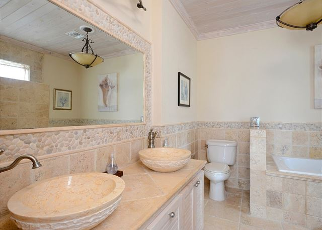 Master Bath with Jacuzzi Tub and Ocean View