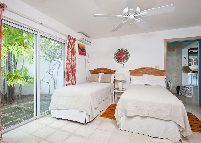 Orange Bedroom, twins can convert to King Bed