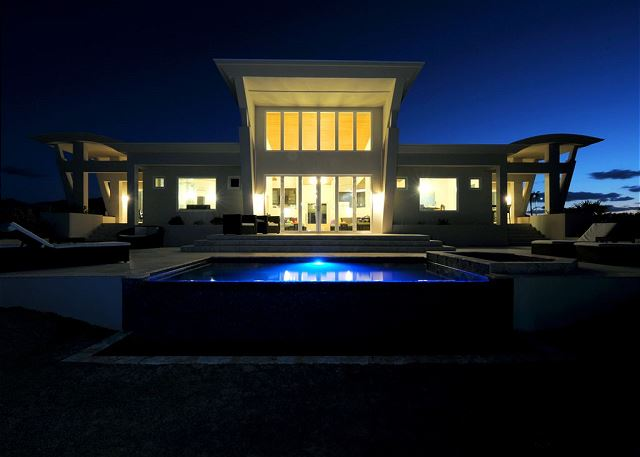 Villa Exterior at Night