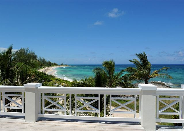 Grand Sun Deck with Beach and Ocean View (furnished with 8 lounge chairs)