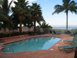 Casa Playa Vacation Condo in Fort Myers Beach Florida view of community pool