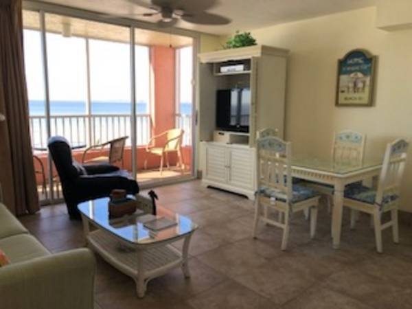 Great view in this 1 bedroom vacation condo at Casa Playa Resort in Fort Myers Beach Florida