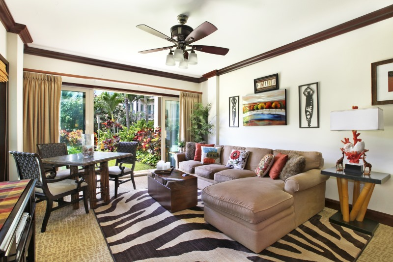 B103 Living Room Dining Area Garden View