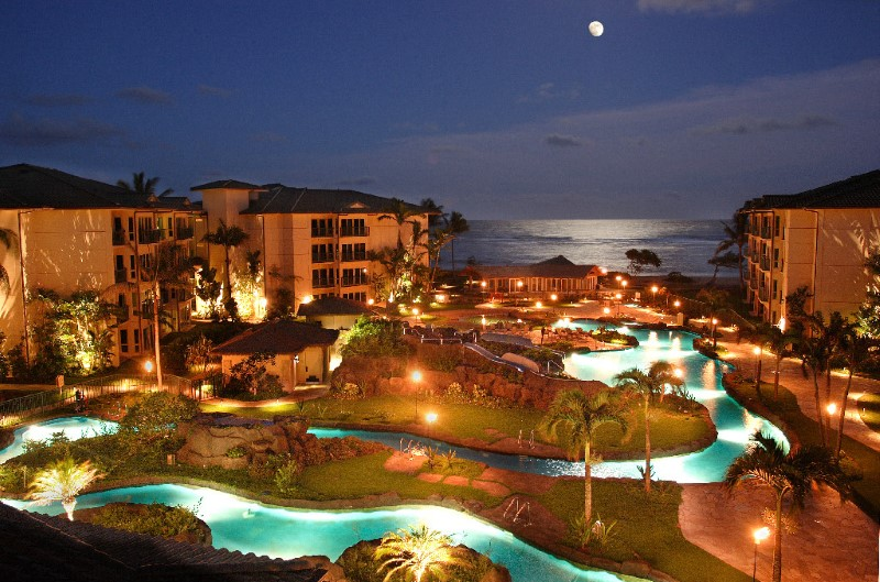Full Moon Over the Resort