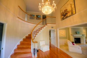 The Grand Staircase Leads to the Upstairs Bedrooms