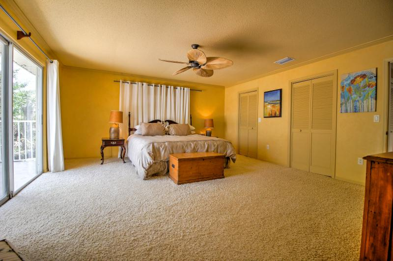 King Size Bed in Master with His and Hers Walk in Closets