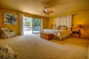 Romantic Master Suite with Flat Screen TV and Balcony